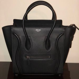 Celine Micro Luggage in Drummed Calfskin Leather